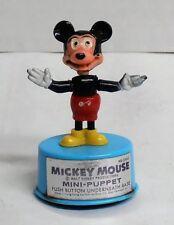 Vintage Mickey Mouse Mini Thumb Push Button Puppet  Kohner