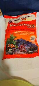Instant Ocean Reef Crystals 50 Gallon 189 Liters Fast Dissolving