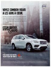 2016 VOLVO XC90 Original Print AD - SUV Centraide white car photo French Canada