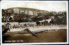 UK~ ISLE OF WIGHT ~ 1930's VENTNOR FROM THE PIER ~ Real Photo PC  RPPC