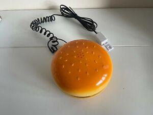 Classic Retro 1980s Style Hamburger Phone - Cheese Burger Telephone