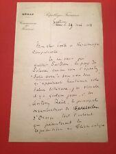 Lettre Autographe De Maurice Faure