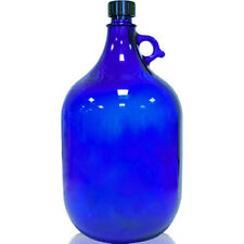 Glasflasche Flasche 5 Liter in blau, super Vorratsgefäß