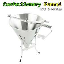Confectionery Funnel Cake Decorating Tool Precise Dispensing & Filling 7.25