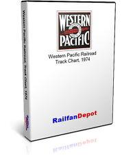 Western Pacific Railroad Track Chart 1974 - PDF on CD - RailfanDepot