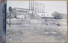 Banes, Holguin, Cuba 1920 AZO Realphoto Postcard: United Fruit Company Factory-1