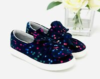 NEW Toddler Girl's Mae Slip On Sneakers Size 7 Cat & Jack Shoes Navy Blue Star