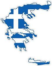 Aufkleber Sticker Decal Emblem Flagge Fahne Landkarte Karte Griechenland