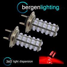 2x H7 Rojo 60 led DELANTE Bombillas De Luz Larga alto voltaje kit xenon mb500302