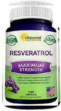 100% Pure Resveratrol 1000mg Per Serving Max Strength 180 Capsules Antioxidant
