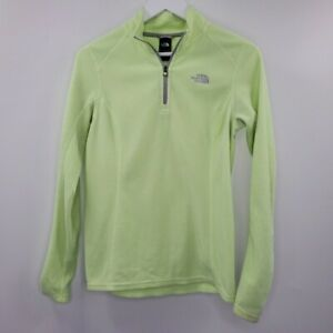 The North Face Pullover Fleece Sweater Jacket Neon Yellow Highlighter M