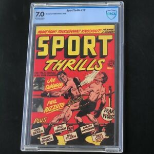 Sport Thrills #12 (Accepted 1958) 💥 CBCS 7.0 💥 LB COLE Sports Boxing Comic
