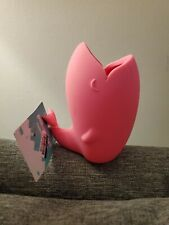 Cute Silicone Whale Toothbrush Holder Toothpaste Storage Organizer - Pink