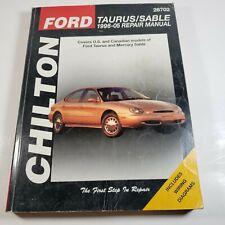 Chilton Repair Manual Ford Taurus Sable 1996-1999, 26702