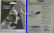 Ashima - Adaptador ejes de cierre central a 6 agujeros original AC02 Nero/Negro