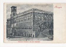 Italy, Perugia, Palazzo Pubblico del Municipio Early UB Postcard, A959