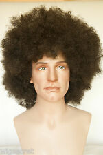 Dark Brown Brunette Long Curly Fun Color Wigs Men Wig