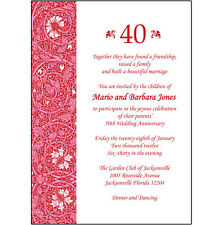 25 Personalized 40th Wedding Anniversary Party Invitations  - AP-013