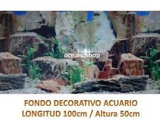 FONDO DECORATIVO ACUARIO pared piedra  longitud 100cm altura 50cm pecera D447