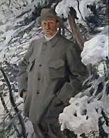 Bruno Liljefors by Swedish  Anders Zorn. Canvas People. 11x14 Print