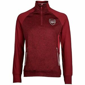 Arsenal FC Official Men's Football 1/4 Zip Top Jacket - Red - New
