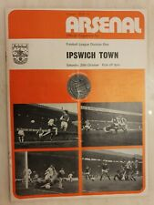 1973/74  Arsenal v Ipswich Town, 20th October, Cup Final Voucher intact