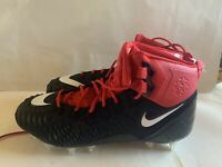 Nike Force Savage Elite Td Football Cleats Mens Mid New Red Black Shoe Size 14.5