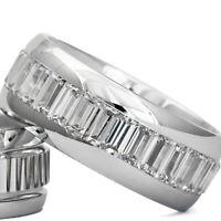 Silber 925 Trauringe Eheringe Verlobungsringe mit Gravur und Swarovski Stein D8