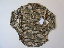 NWT Equipment Signature Slim in Kelp Camouflage Camo Silk Button Down Shirt S