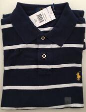 Polo Ralph Lauren Stripe Mesh Mens Polo-shirt Custom Fit Size Medium