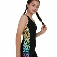 Speedo Junior Girls' Swim - JungleGlare Allover Panel Leaderback Legsuit