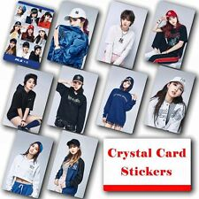 10pcs/set Kpop TWICE Collective HD Lustre Photo Card Crystal Card Sticker