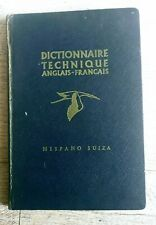 Livres aviation Hispano Suiza technique Anglais/ Français édition 1953.