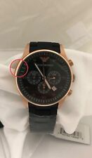 Emporio Armani Sportivo AR5905 Rose Gold Accented Black / Black Stainless Steel