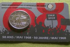 COINCARD 2 EURO COMMEMO BELGIQUE 2018  50 ANS MAI 1968