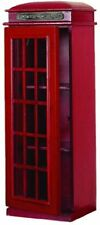 New ListingRed London Uk Telephone Booth 3 Tier Media Storage Cabinet Cd Dvd Entertainment