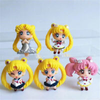 Anime Sailor Moon Tsukino Usagi Plastic Action Figures Toy Mini Model Doll Decor