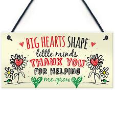 Teacher Leaving Gift Nursery Hanging Wall Plaque Childminder Preschool Thank You