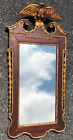 """2nd Period Federal Style Mahogany Mirror with Gilded Eagle & Leaf 45""""X23"""""""