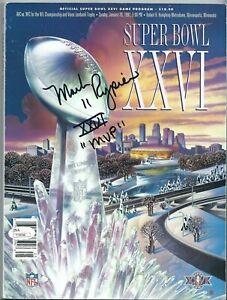 "Mark Rypien Signed Original Football Super Bowl 26 Program ""XXVI MVP"" JSA"