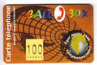 FRANCE  TELECARTE / PHONECARD  PREPAYEE .. 100F CALLBOX MONDE 01/99 +N° NEUVE