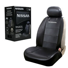 Nissan Synthetic Leather Sideless Car Truck Front Seat Cover & Headrest Cover