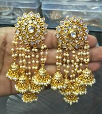 New Indian Bollywood Gold Plated Jhumka Earrings Ethnic Fashion Jewelry