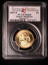 2007 James Madison P&D MS 68 Position A Satin PCGS Nice Coins Spot/Problem Free