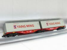 Rocky-Rail N RR60205 Containertragwagen Sgrss Yang Ming Railion DB OVP (V5713)