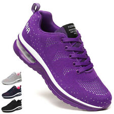 Women's Air Cushion Sneakers Walking Gym Casual Breathable Running Sports Shoes