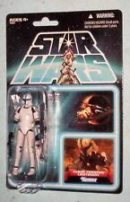 Star Wars Vintage Clone Trooper Lieutenant carded Lost Packaging Line