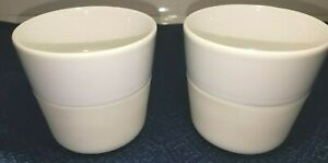 NEW PAIR of Eva Solo Tumbler Lungo White Ivory coffee espresso tea cup mug