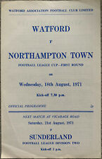 More details for watford v northampton town league cup 1st round 1971/72