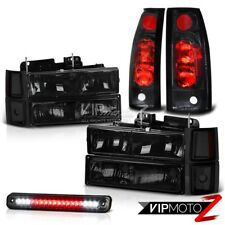 94-98 Chevy Tahoe Suburban 1500 2500 Black Tail Light 3RD Brake Lamp Headlights